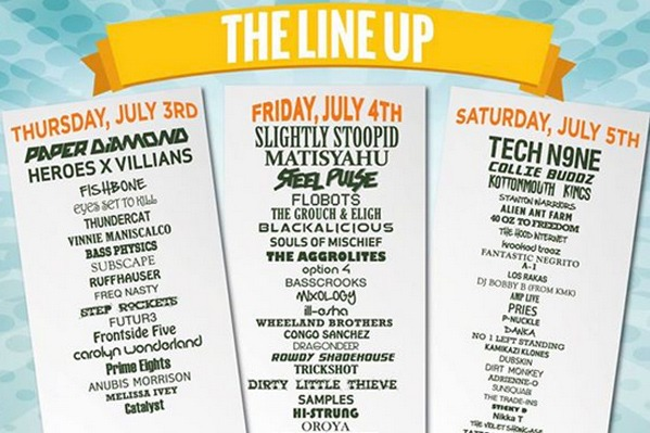 Official Line Up for 3 Day South Park Music Fest