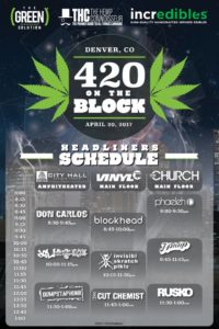 420 on the block schedule