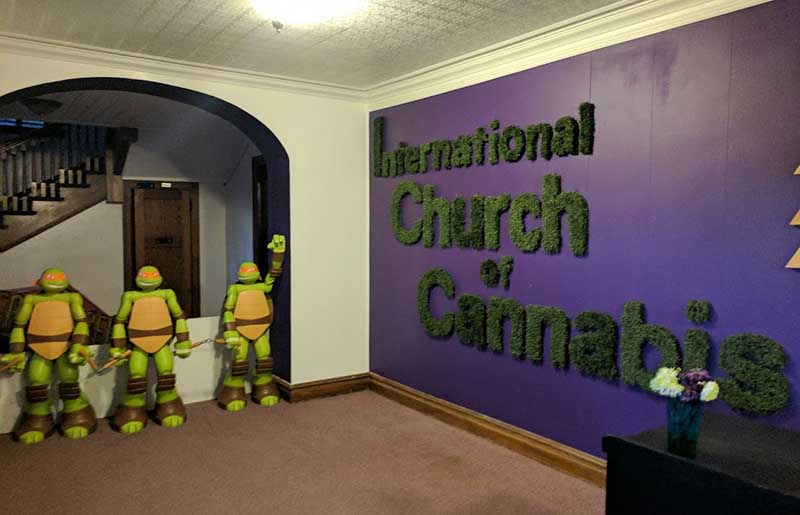 Church of Cannabis entrance