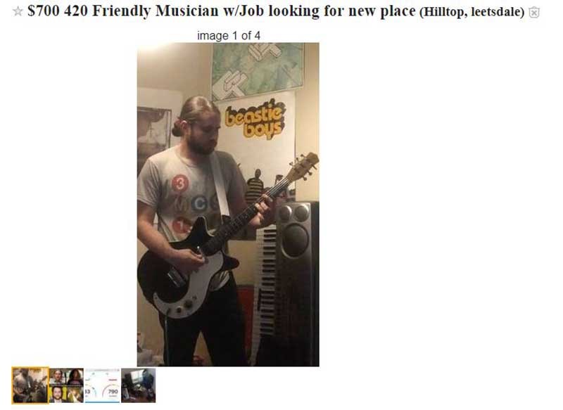 what does 420 friendly mean - craigslist roommate