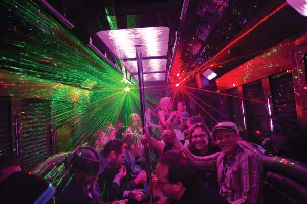 Denver bachelor party bus