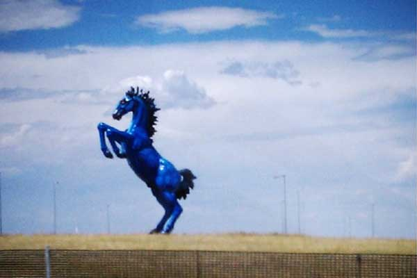 Blucifer the Denver Airport Horse