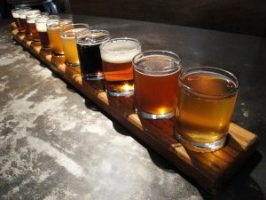 Denver brewery tour flight