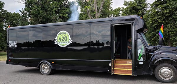 Denver Pride Parade 2018 My 420 Tours float